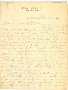 Letter from Extempo Club to W. E. B. Du Bois