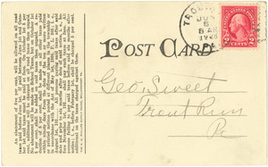 Letter from Lewis (Pa.) Tax Collector to George Sweet