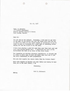 Letter from Mark H. McCormack to Al Mulberry