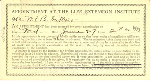 Appointment at the Life Extension Institute