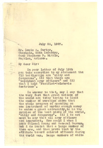 Letter from W. E. B. Du Bois to Louis A. Carter