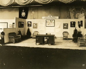 Department of Public Works administrative exhibit booth