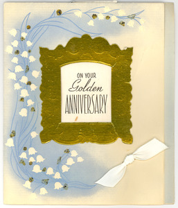 Anniversary card from Ernest P. Monroe & family to W. E. B. and Nina Du Bois