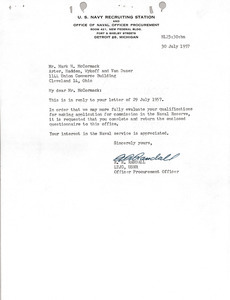 Letter from R.R. Randall to Mark H. McCormack
