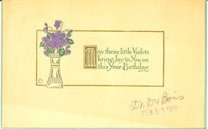 May these little violets bring joy to you on your birthday