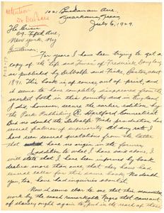Letter from G. C. Pendleton to The Crisis