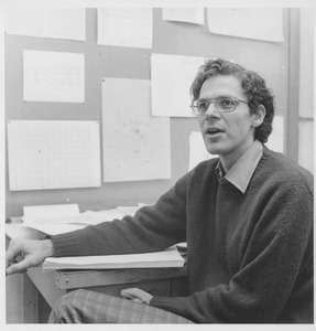 Joseph H. Taylor, UMass Amherst Professor of Physics and Astronomy, sitting at a desk