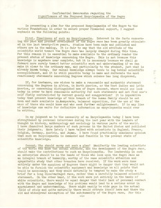 Confidential memorandum regarding the significance of the proposed Encyclopedia of the Negro