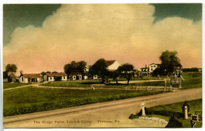 Blank hand-colored postcard of Trevose, Pa.