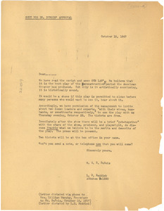 Circular letter from W. E. B. Du Bois and L. D. Reddick to unidentified correspondent