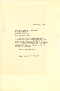 Letter from unidentified correspondent to Haines Institute