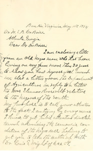 Letter from G. T. McElderry to W. E. B. Du Bois