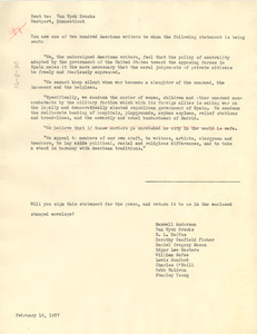 American writers' petition