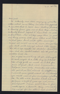 Letter from Katherine Irey to Janet MacDowell