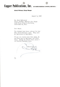 Letter from Ned McCormack to Mark H. McCormack