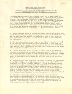 Declaration of the World Trade Union Conference Committee on Postwar Reconstruction and Immediate Trade Union Demands