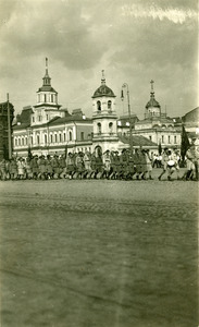 Children marching, Red Square, Moscow