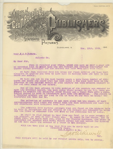 Letter from George M. Rewell & Co. to W. E. B. Du bois