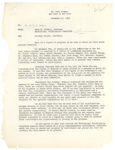 Letter from Provisional Coordinating Committee to W. E. B. Du Bois