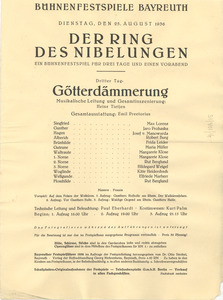 Der Ring Des Nibelungen program