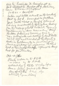 Deed transfer from Luicinda M. and Albert D. Burghardt to Charles H. Chippen