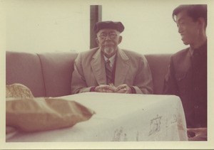 W. E. B. Du Bois and unidentified man on a riverboat on Kunming lake