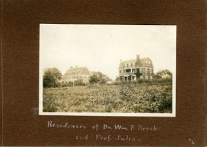 Residences of Dr. Wm. P. Brooks and Prof. Julian
