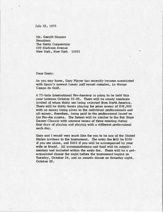 Letter from Mark H. McCormack to Gerald Shapiro