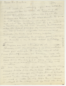 Letter from Nellie M. Towns to W. E. B. Du Bois