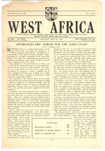 West Africa no. 1631 vol. 32 [fragment]