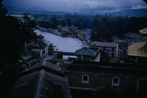 Rooftops over the Bagmati river