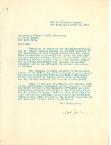 Letter from D. Johnson to the Secretary of the Spingarn Medal Committee