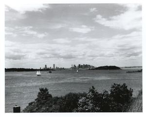 Boston from Georges Island