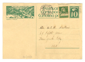 Postcard from Mabel Byrd to W. E. B. Du Bois