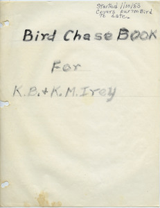 Bird chase book