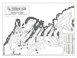 Sharon Club Golf course map