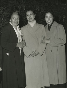 Shirley Graham Du Bois with two unidentified women