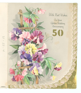 Anniversary card from H. H. and Lucile Stroug to W. E. B. and Nina Du Bois