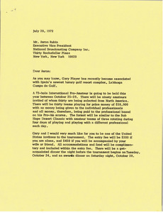 Letter from Mark H. McCormack to Aaron Rubin