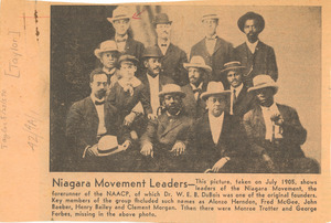 Niagara Movement leaders