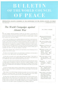 Bulletin of the World Council of Peace, number 4
