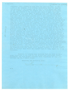 Letter from George M. Cumings to W. E. B. Du Bois [fragment]