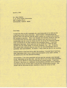 Letter from Mark H. McCormack to Stan Malless