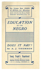 Education of the Negro: Does it Pay?