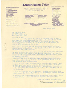 Letter from Reconciliation Trips to W  E  B  Du Bois - Digital