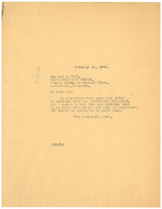 Letter from W. E. B. Du Bois to the First Unitarian Church