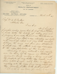 Letter from A. J. McMaster to W. E. B. Du Bois