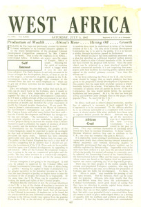 Fragment of West Africa newspaper volume 31, issue 1585