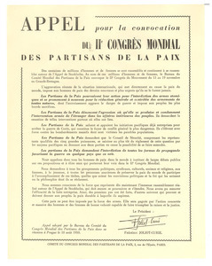 Appeal of the World Peace Congress