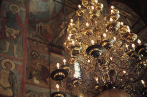Chandelier within the Dormition Cathedral